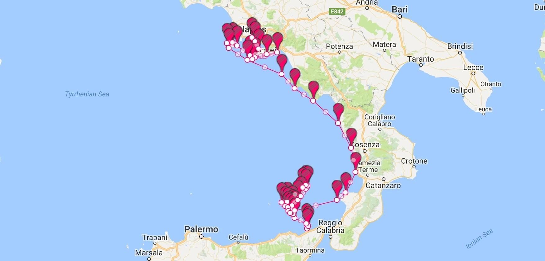 Amalfi Coast Yacht Charter Itinerary Sailing Itineraries