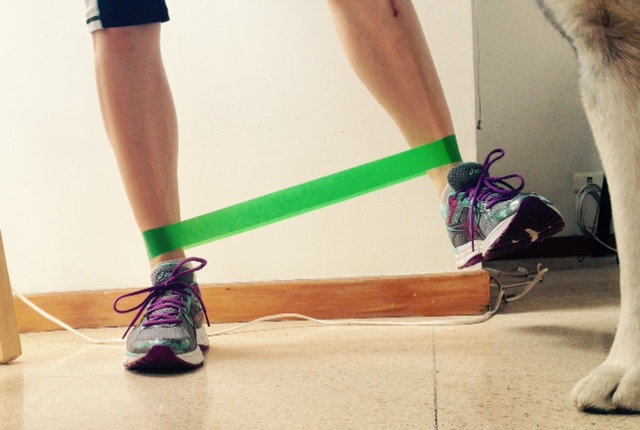 hip abduction with resistance loop bands