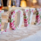 """love"" in floral letters"