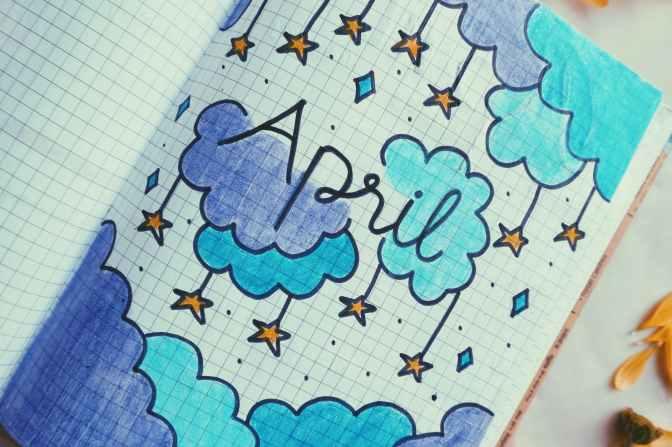 white blue and purple stars illustration
