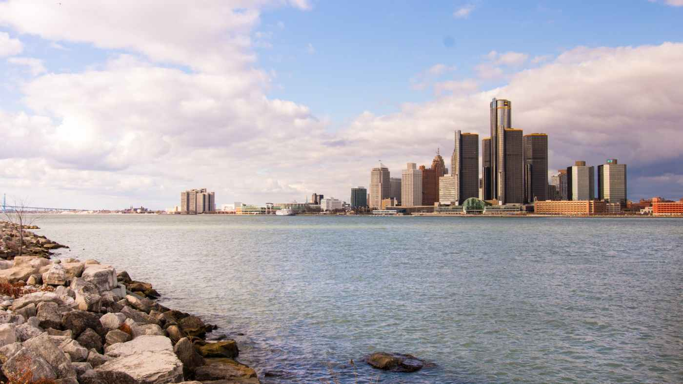 wide angle photography of city near body of water