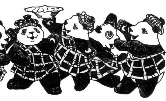 The panda Kindergarten in the panda clan tartan