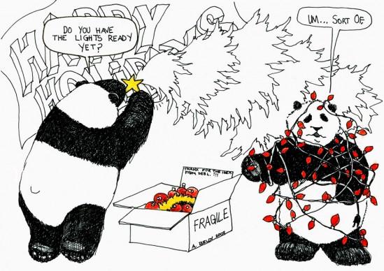 panda christmas
