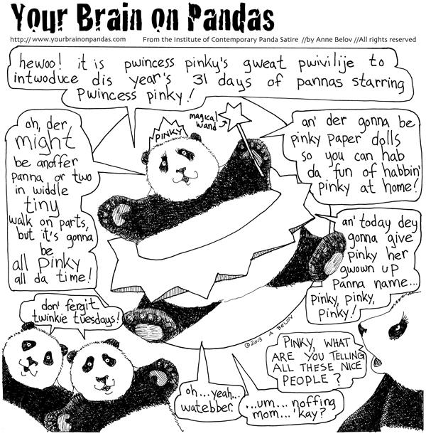 Princess Pinky announces 31 days of pandas