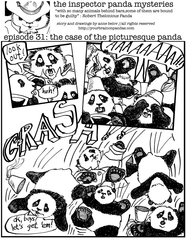 Uh oh, the panda kindergarten forgot to wear their seat belts.