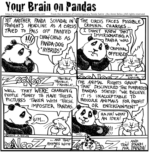 Well, it LOOKED like a panda...
