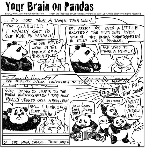 Huzzah! Pandas save the day!