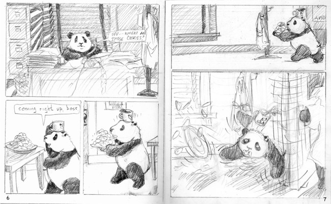 32) From The Case of The Picturesque Panda; pencil roughs