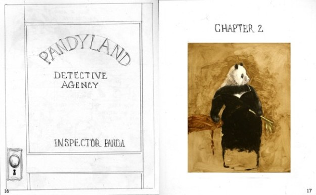 35) From The Case of The Picturesque Panda; pencil roughs