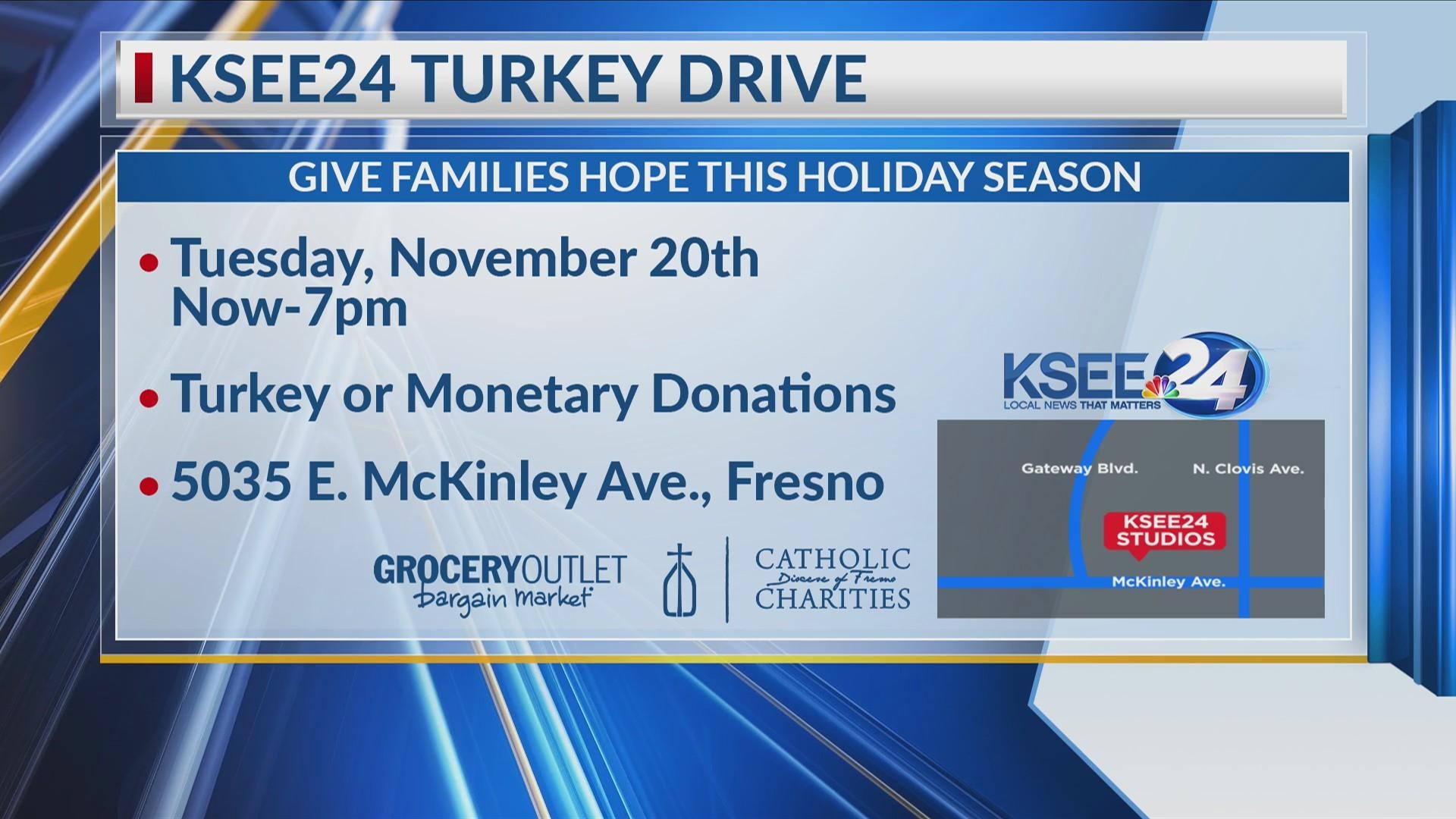 KSEE24 Turkey Drive 1