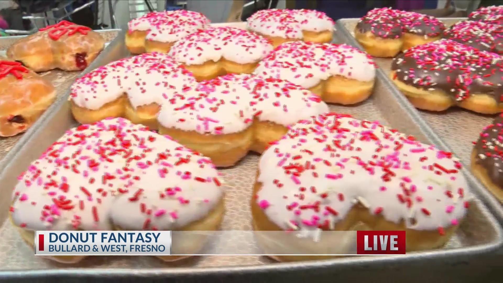 Donut Fantasy serving up heart-shaped donuts
