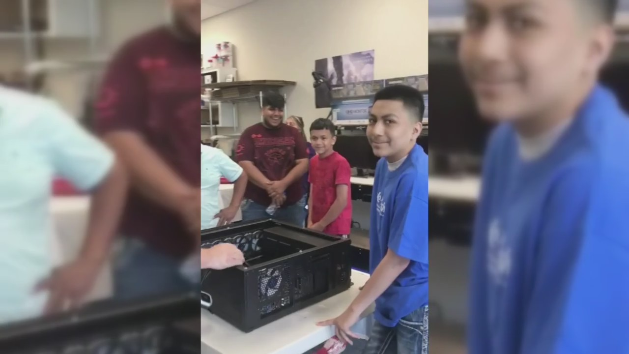 Teen's wish to build computer granted