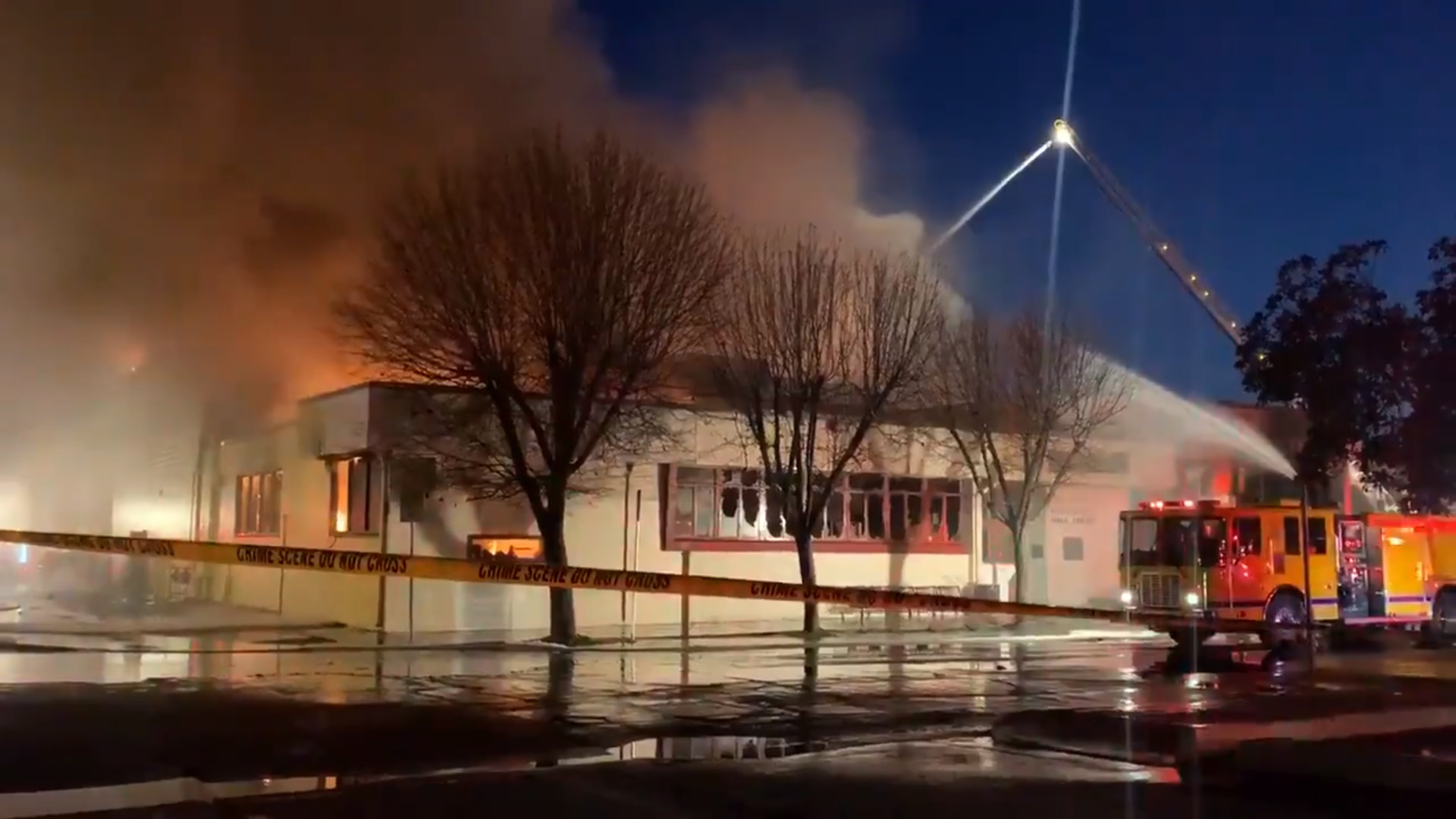 Porterville library fire