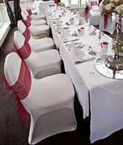 chair covers wedding buy red leather bean bag wholesale tablecloths spandex table linens linen banquet folding