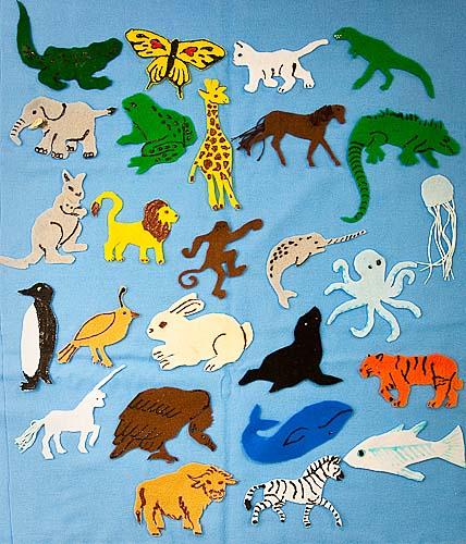 Animal ABCs, felt animal to learn the alphabet