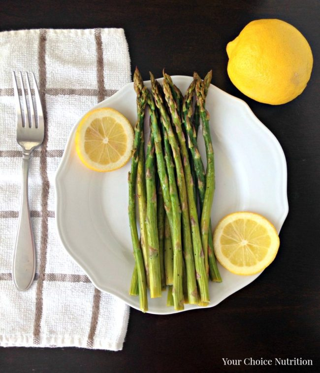 Oven Roasted Lemon Asparagus. SO easy and SO healthy!!! - Your Choice Nutrition