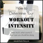 Determining Your Workout Intensity