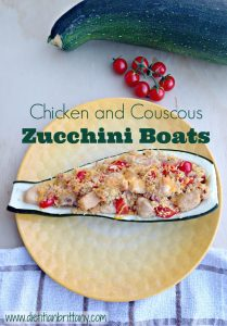 Chicken and Couscous Zucchini Boats