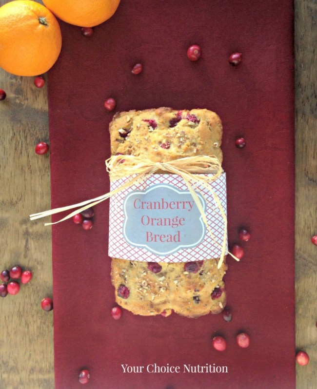 Whole Wheat Cranberry Orange Bread