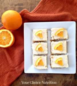 Creamy Orange Bars. Tastes like a real orange - and only 160 calories per bar!