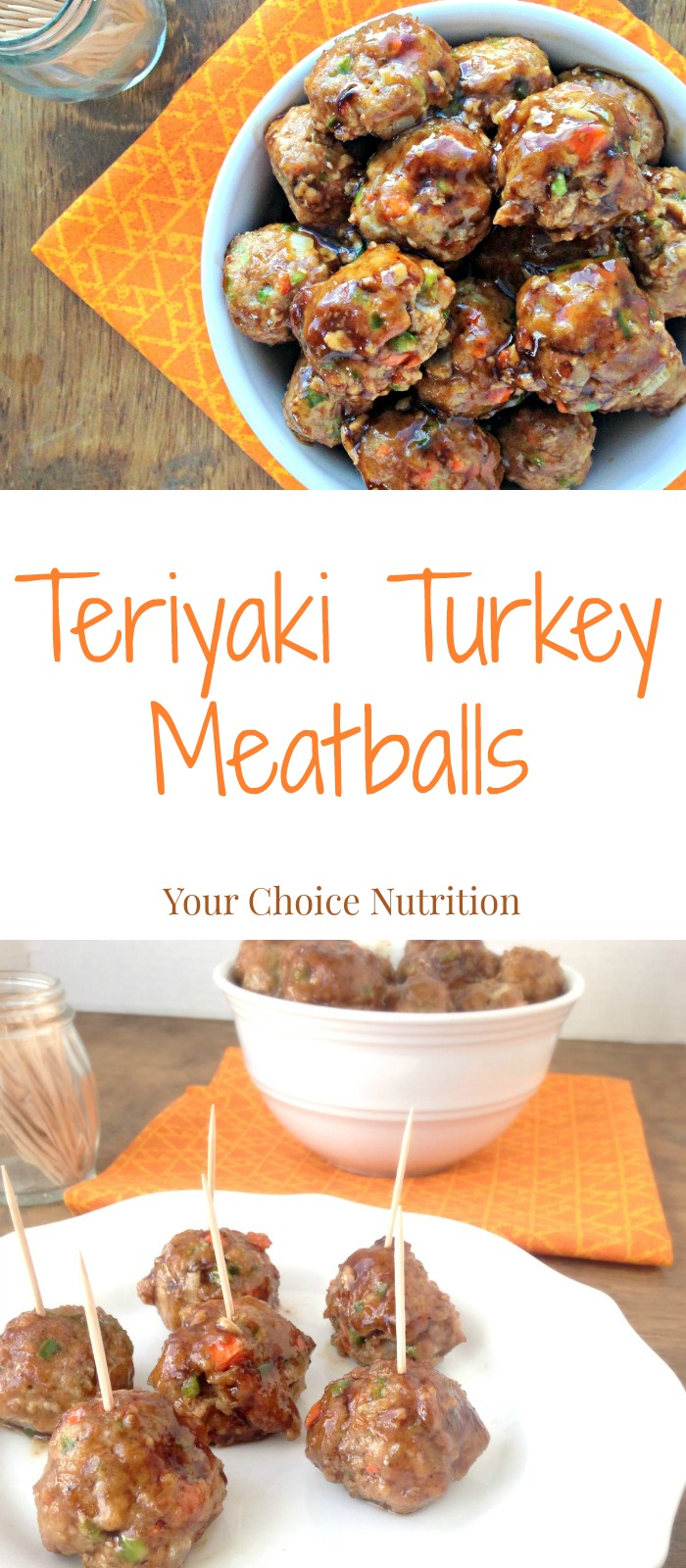 Teriyaki Turkey Meatballs. A healthier meatball that is perfect as an appetizer or included as part of a main dish!