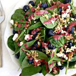 Blueberry Spinach Salad with Blueberry Vinaigrette
