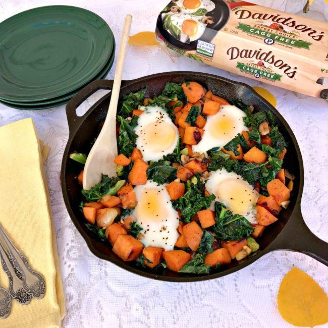 Sweet Potato & Kale Hash with Eggs #ad  |  Recipe via yourchoicenutrition.com