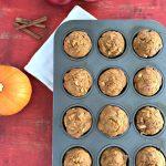Whole Wheat Apple Pumpkin Muffins