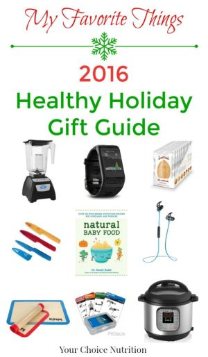 My Favorite Things 2016 Healthy Holiday Gift Guide. Sure to have something on it to please the foodie or fitness lover in your life!