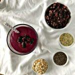 Wild Blueberry Vanilla Breakfast Smoothie