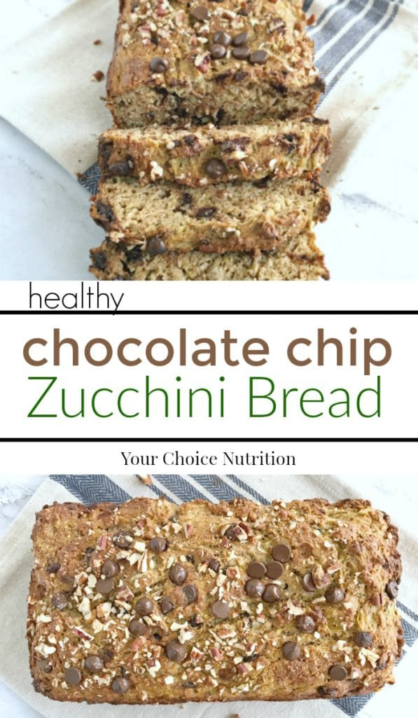 Chocolate Chip Zucchini Bread - Your Choice Nutrition