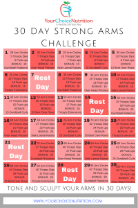 30 Day Strong Arms Challenge