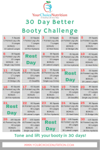 30 Day Better Booty Challenge