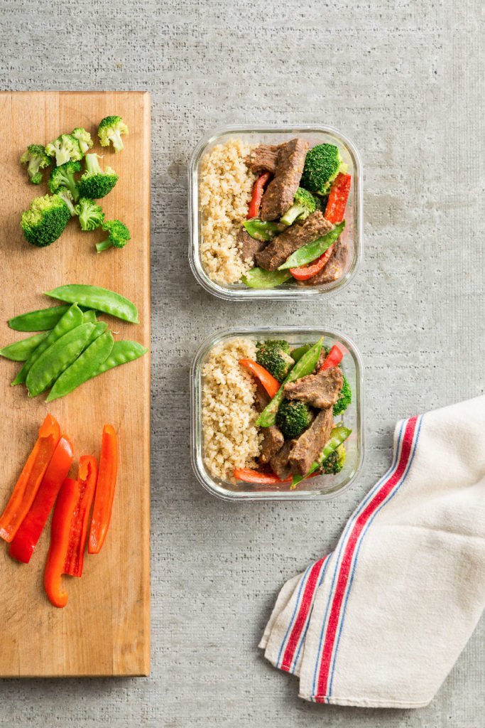 Beef Stir-Fry with Asian Peanut Sauce. The Healthy Meal Prep Cookbook by Toby Amidor, MS, RD, CDN is an excellent resource for meal prepping, filled with tips, meal plans and delicious, healthy recipes.