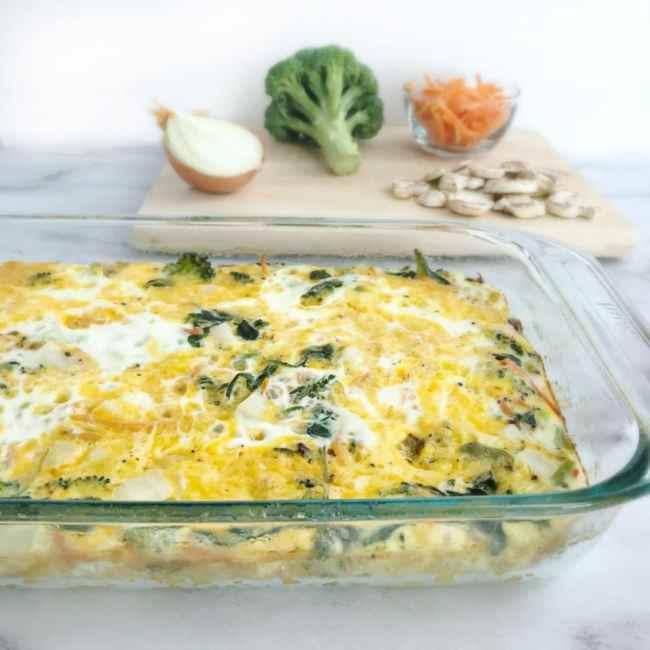 Vegetable Egg Breakfast Casserole: Brunch Egg & Veggie Casserole
