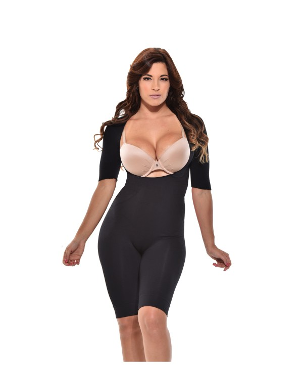 Midh thigh shapewear short Short sleeve