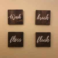 Bathroom set Wash Brish Floss Flush