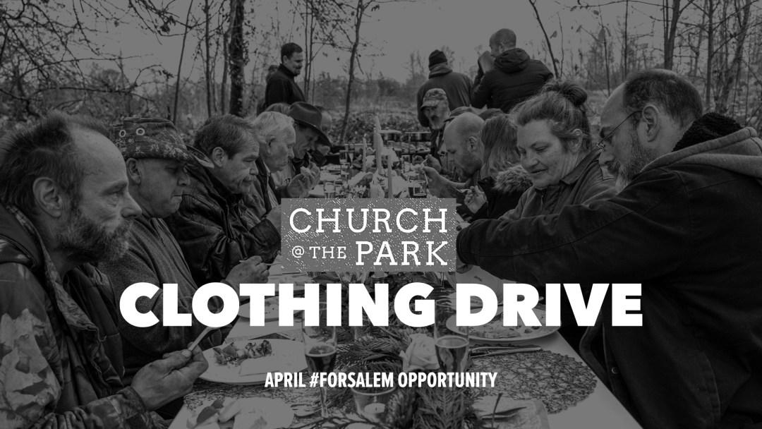 church at the park clothing drive