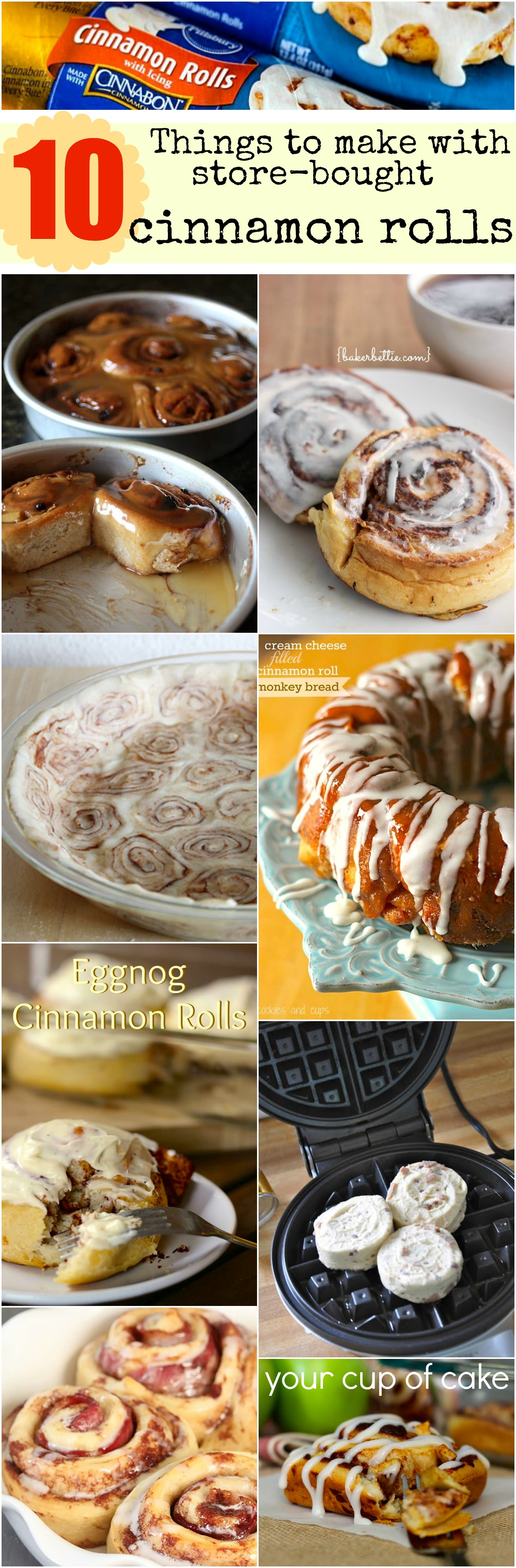 10 Things To Make With Store Bought Cinnamon Rolls