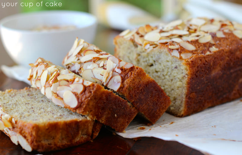 almond banana bread your cup of cake