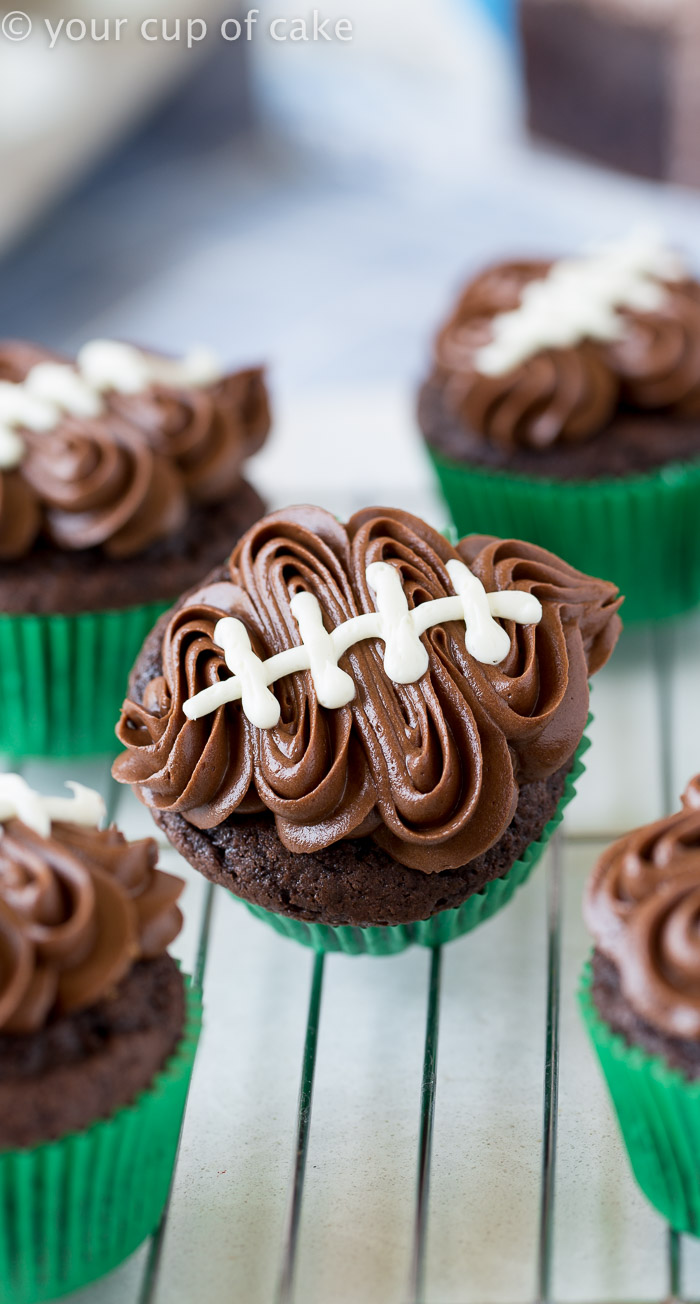 Easy Football Cupcakes With Video Your Cup Of Cake