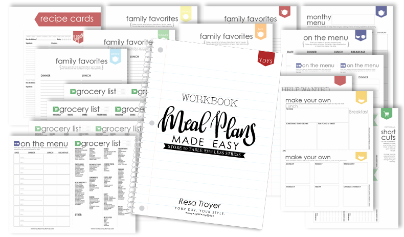 Free Meal Planning Guide and Printable Worksheets