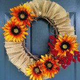 Sunflower Burlap Wreath from Your Day Your Style