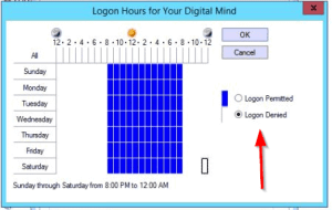 How To Restrict Logon Hours In Active Directory