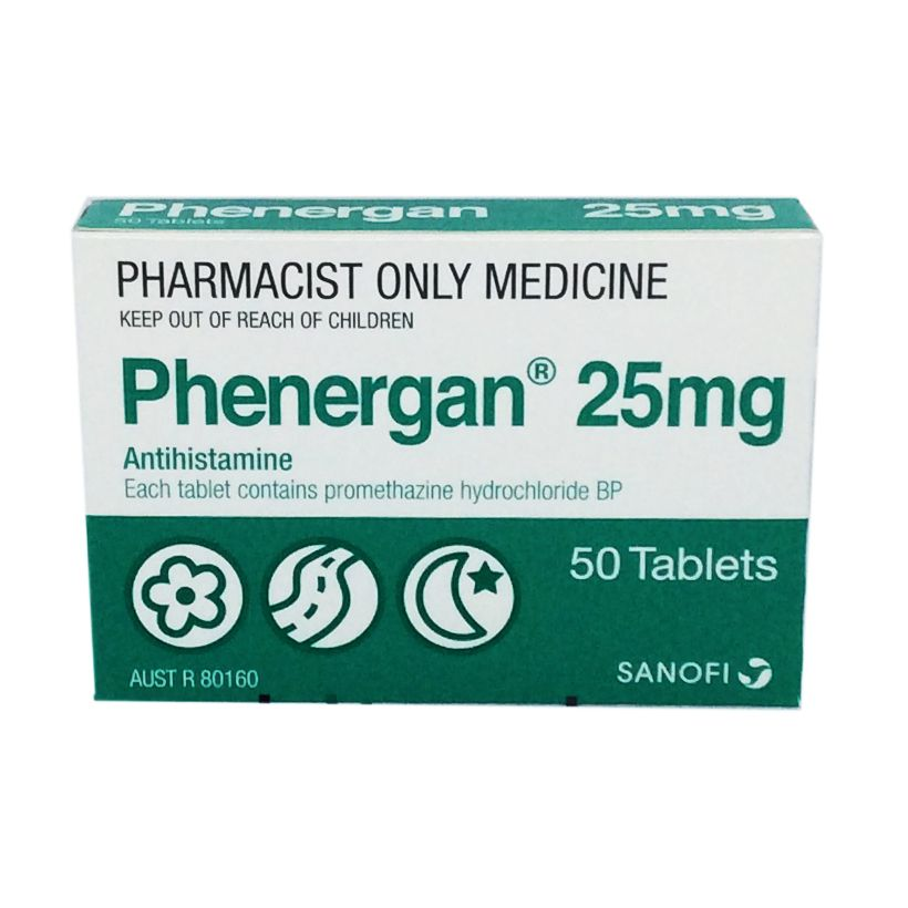 Phenergan 25mg Tablets 50 - Your Discount Chemist