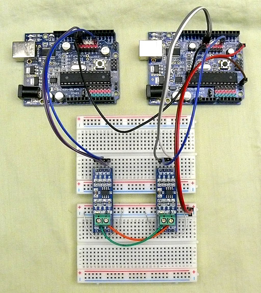 rs232 to rs485 wiring diagram 2009 club car precedent battery rs-485 module for arduino (max485 )
