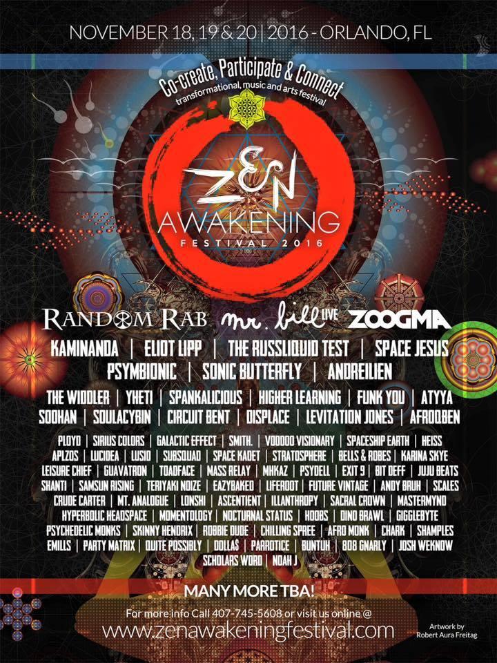 Orlandos Zen Awakening Festival Releases Massive Phase 2