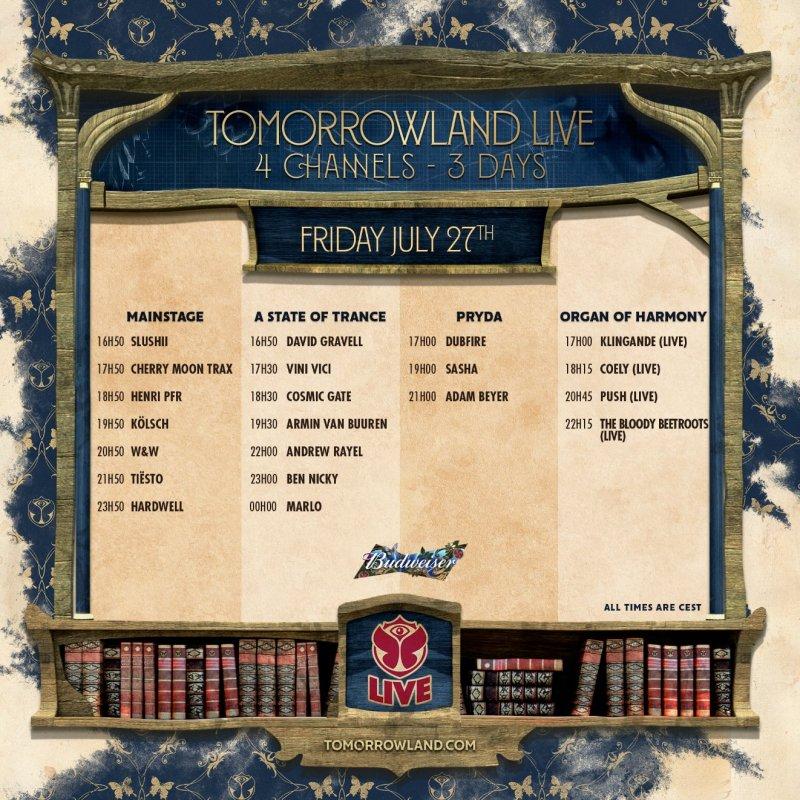 Tomorrowland 2018 live stream, wknd 2 day 1