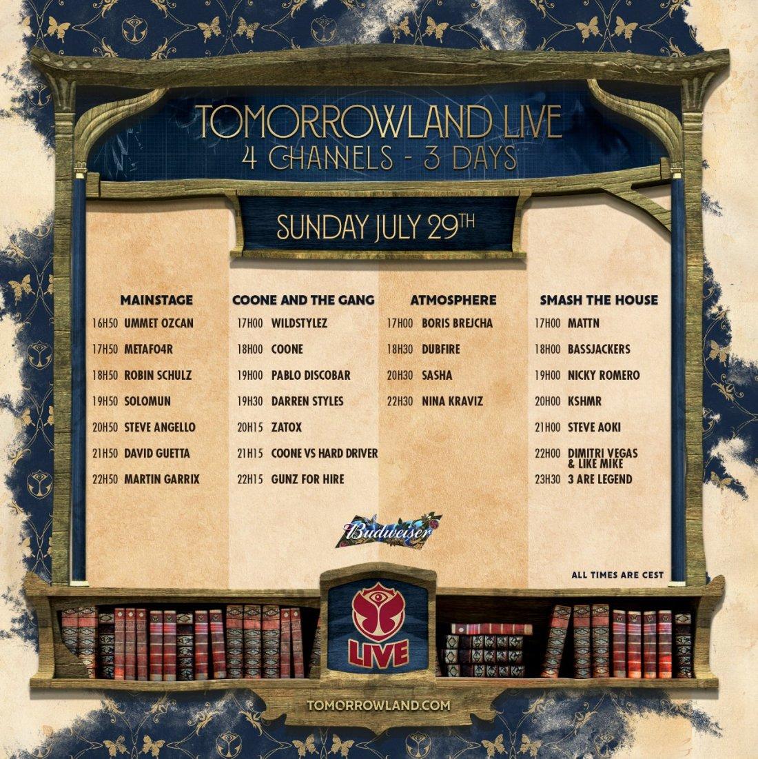 Tomorrowland live stream, weekend 2, day 3