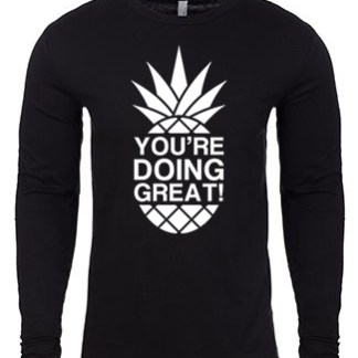 YDG Monotone Pineapple Unisex Black Long Sleeve
